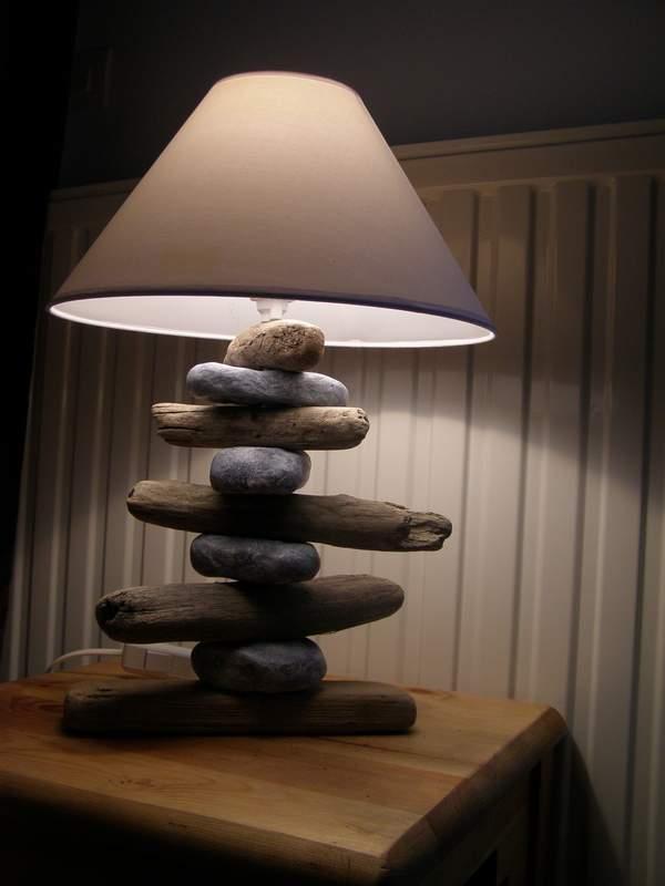 Lampe Bois Flotte Galet : Lampe galet – Delovia.fr